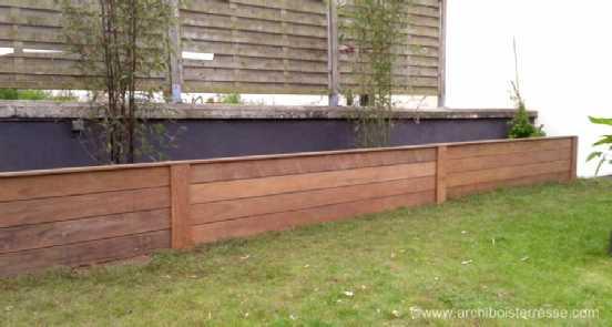 rampe terrasse bois pmr muret de sout nement en bois eure 27 78 78. Black Bedroom Furniture Sets. Home Design Ideas