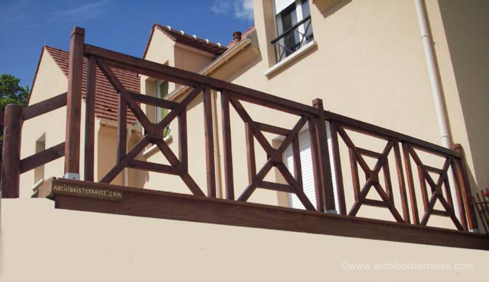 balustrade en bois pour terrasse exterieure fq24 jornalagora. Black Bedroom Furniture Sets. Home Design Ideas