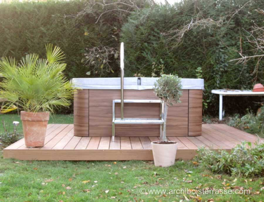 jacuzzi en bois exterieur pour terrasse stunning spa en bois bain nordique jacuzzi en bois. Black Bedroom Furniture Sets. Home Design Ideas