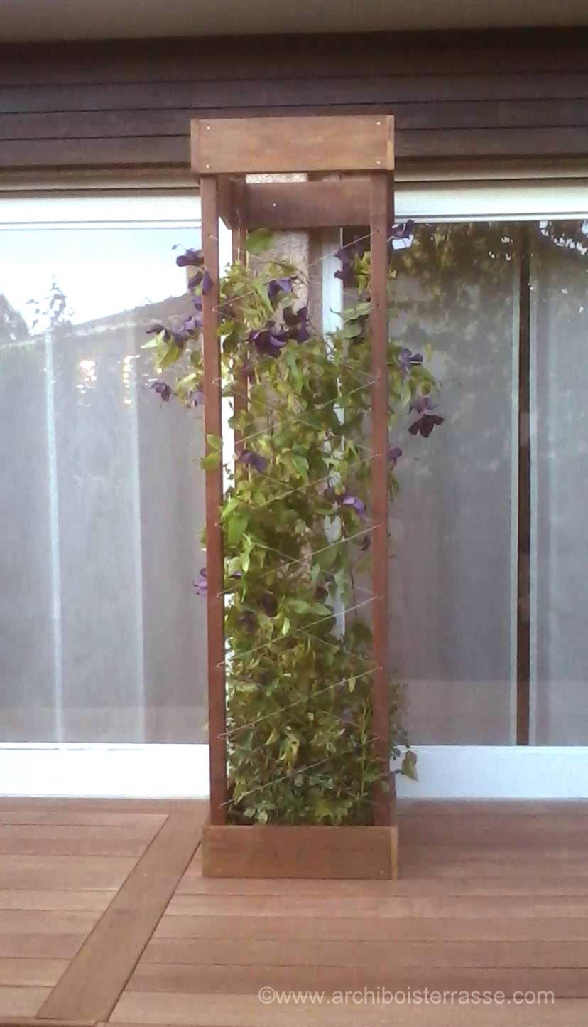 Jardinière En Bois En Hauteur jardinière et bac de terrasse bois - découpe autour des végétaux