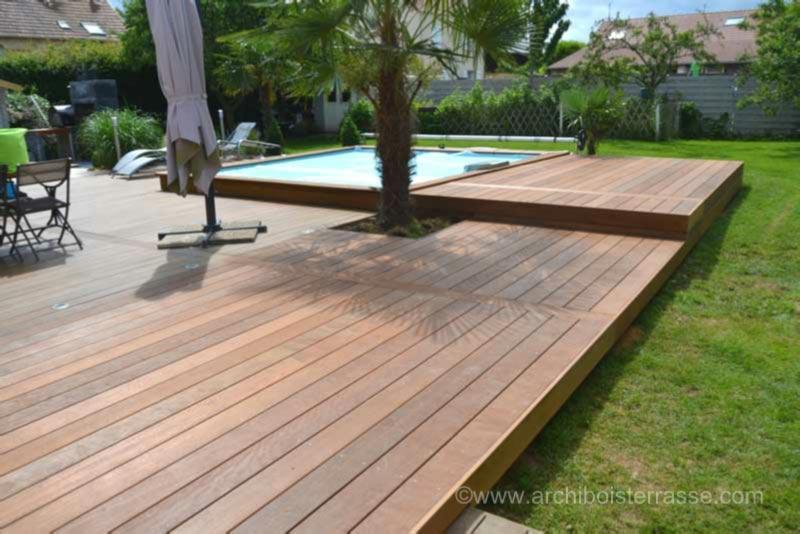 Charreterie sol bois terrasse en paliers terrasse bois for Terrasse jardin 78
