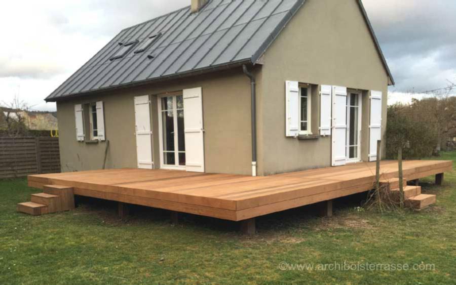 Sehr terrasse bois en hauteur de moins de 60 cm - règles urbanisme WY26