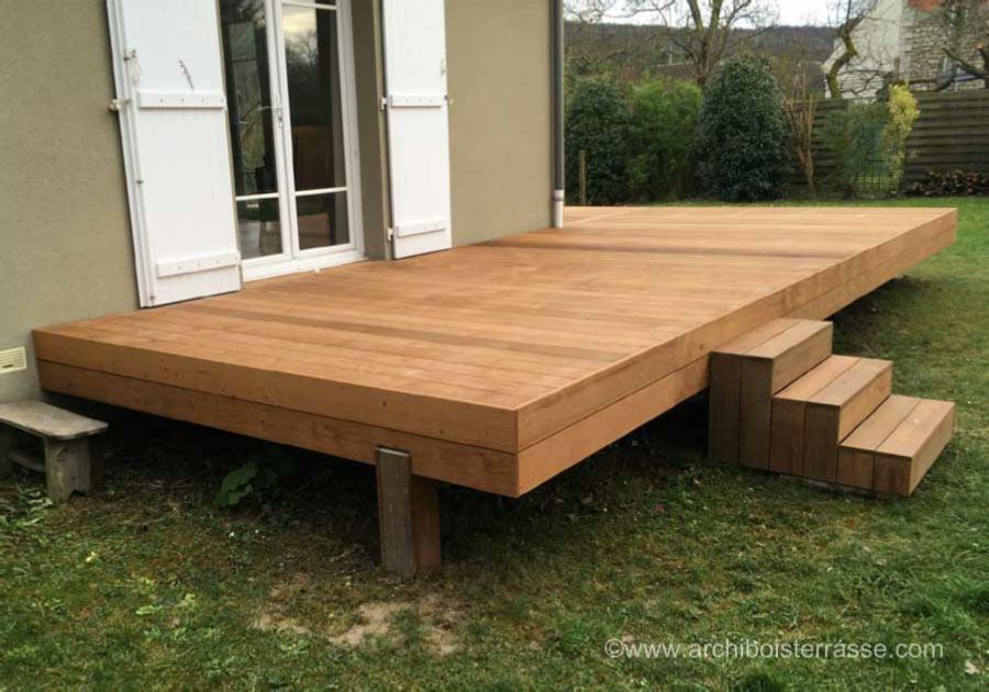 Préférence terrasse bois en hauteur de moins de 60 cm - règles urbanisme NZ12