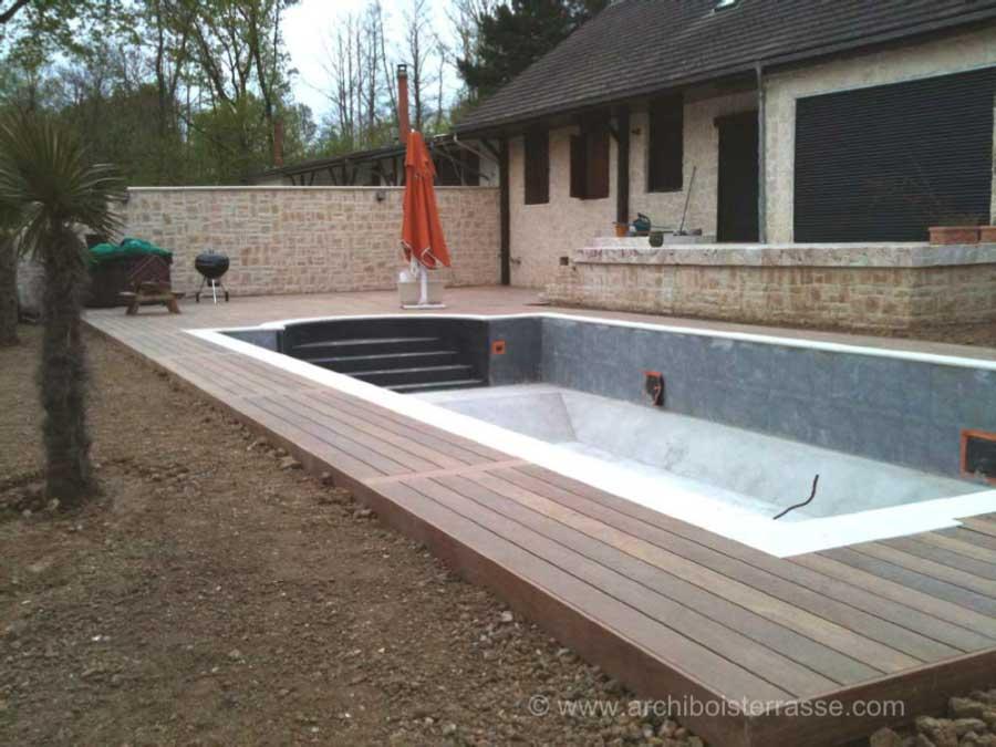 mise en oeuvre dune terrasse bois de piscine