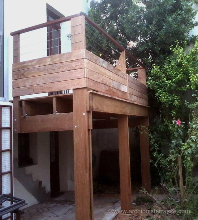 Terrasse Sur Pilotis Poteau Ou Suspendue  Agrandir La Maison