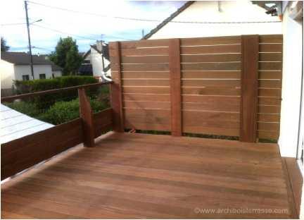 terrasse bois en hauteur sur pilotis avec pare vue et garde fou 95. Black Bedroom Furniture Sets. Home Design Ideas